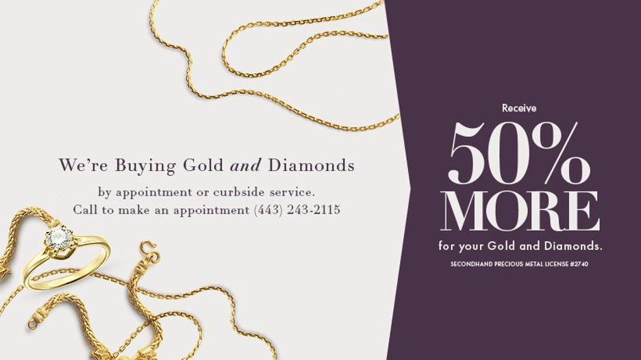 Receive 50% More For Your Gold And Diamond Jewelry At Meritage Jewelers